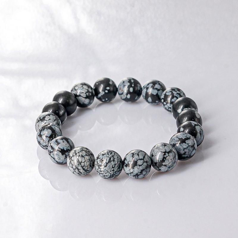 Vòng tay đá Snow Obsidian 10mm